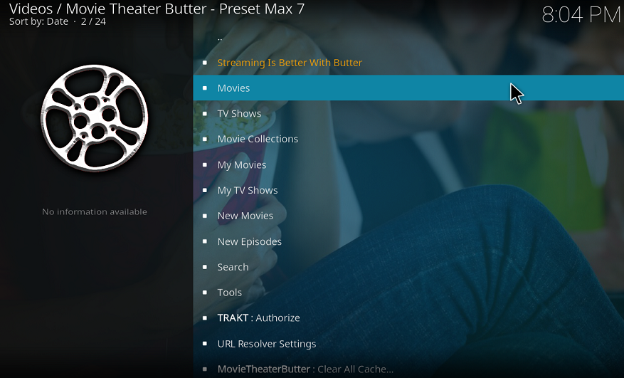 Install Kodi Movie Theater Butter Addon — ZwiftItaly