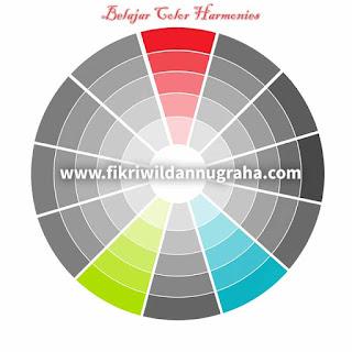 Rumus Perpaduan dan Kombinasi Warna ( Color Harmonies ) teknik pemilihan schema untuk kehidupan sehari-hari fashion hijab cat rumah interior logo design monochromatic analogous triadic complementary