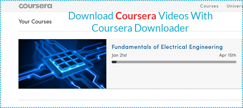 Easily Download Coursera Videos/Lectures With Coursera Downloader
