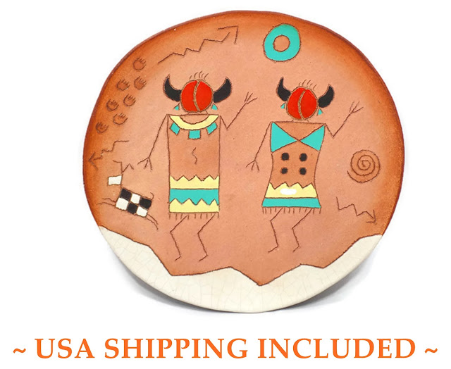 Petroglyph Designs Dish by Red Horse Clay Co.