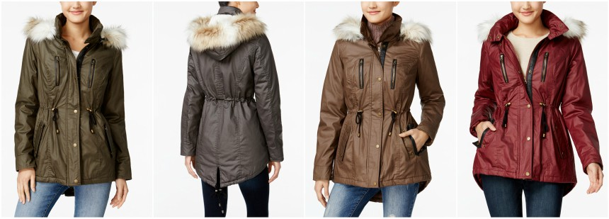American Rag Coated Parka Coat for only $34 (reg $130)