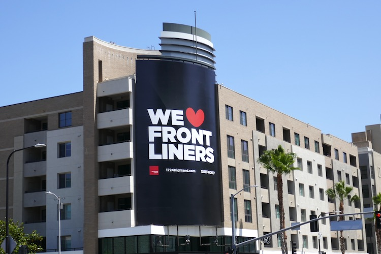 We Heart Frontliners Outfront billboard