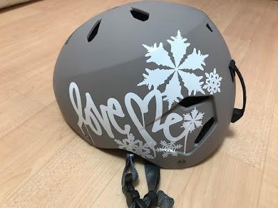 ヘルメットのステッカーチューン