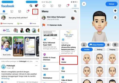 Viral, Cara Mudah Membuat Avatar di Facebook Terbaru 2020