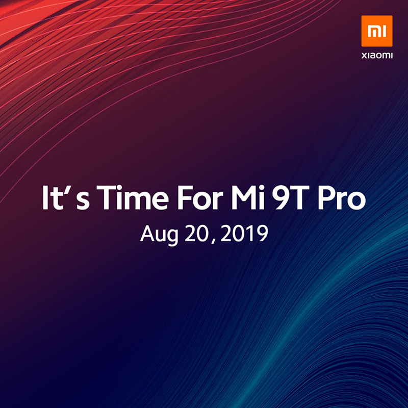 Xiaomi will finally launch the Mi 9T Pro on August 20