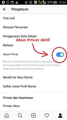 cara private akun instagram membuat ig bersifat pribadi/privasi
