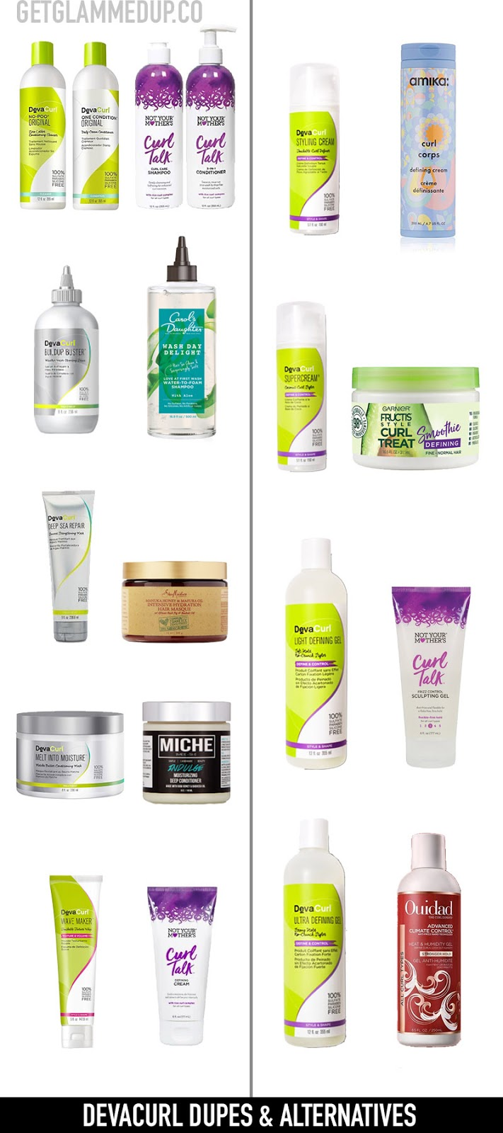 Devacurl Dupes & Cheaper Alternatives