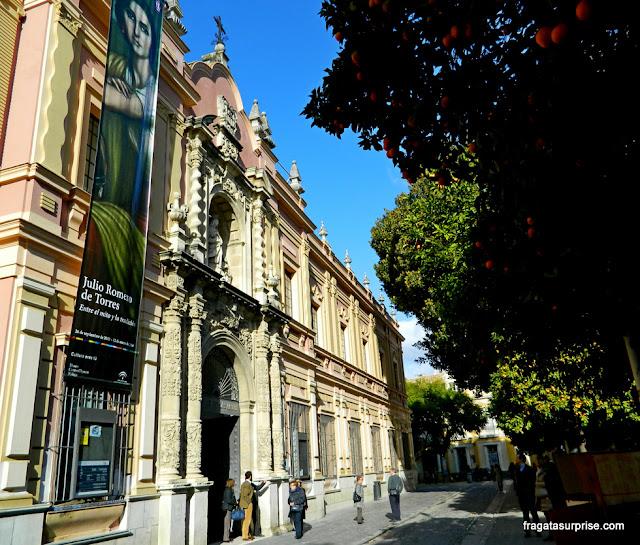 Fachada principal do Museu de Belas Artes de Sevilha