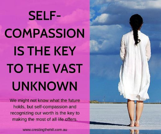We might not know what the future holds, but self-compassion and recognizing our worth is the key to making the most of all life offers. #midlife #compassion