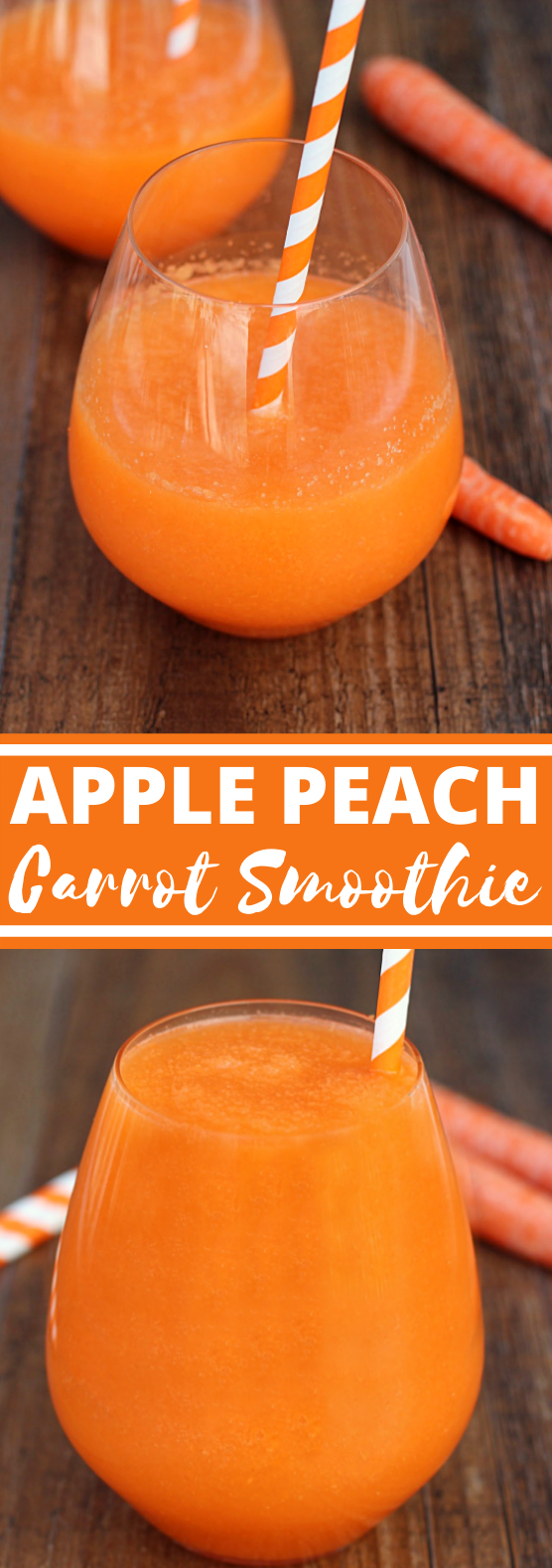 Apple Peach Carrot Smoothie #healthy #drink #breakfast #smoothie #juice