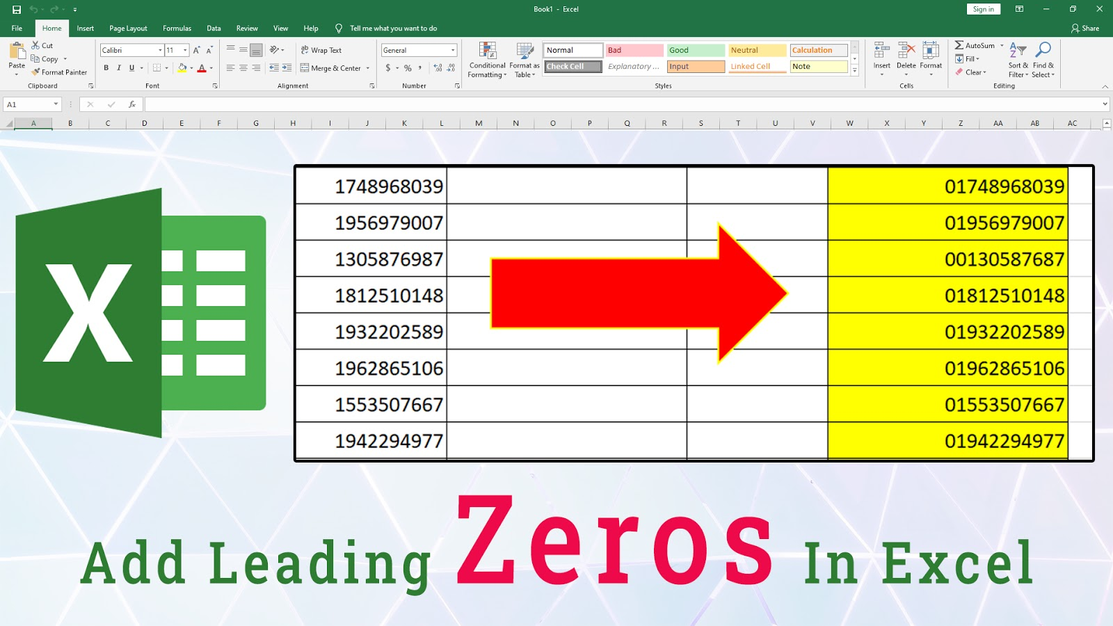 How to add 20 before Numerical values in Microsoft Excel