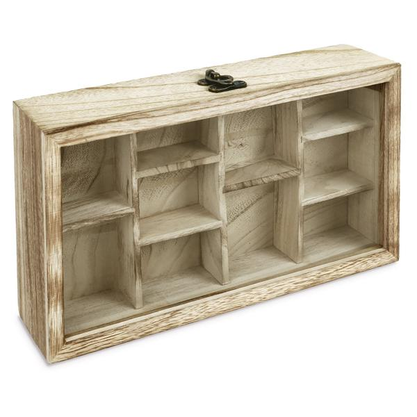 Shop Wooden Hanging Display Case Hinged Glass Front Door at NileCorp.com