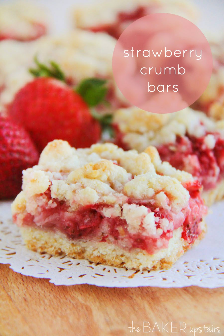 These sweet and irresistible strawberry crumb bars are the perfect spring dessert!