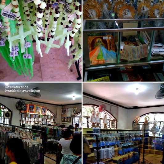 Religious items for sale at Our Lady of Manaoag Church