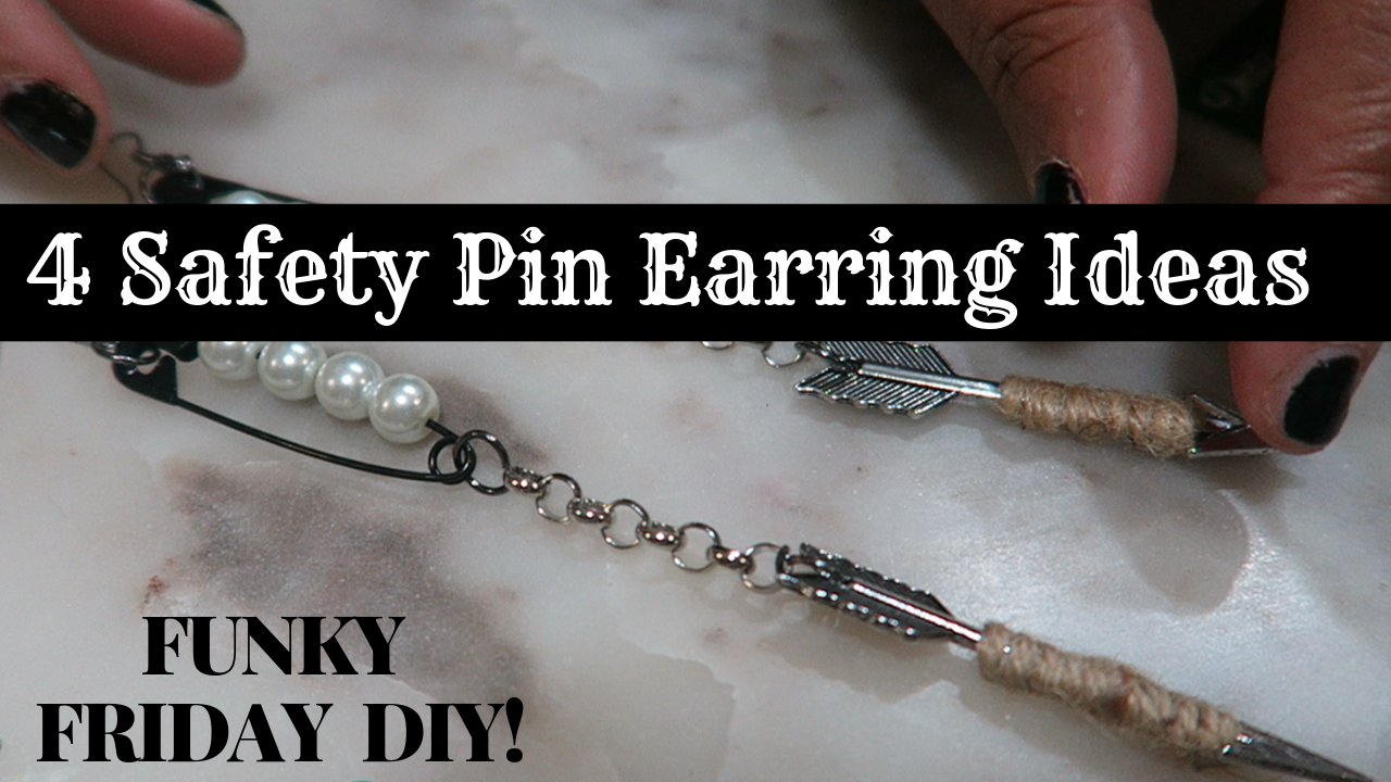 Image: How to make earrings on Funky Friday DIY