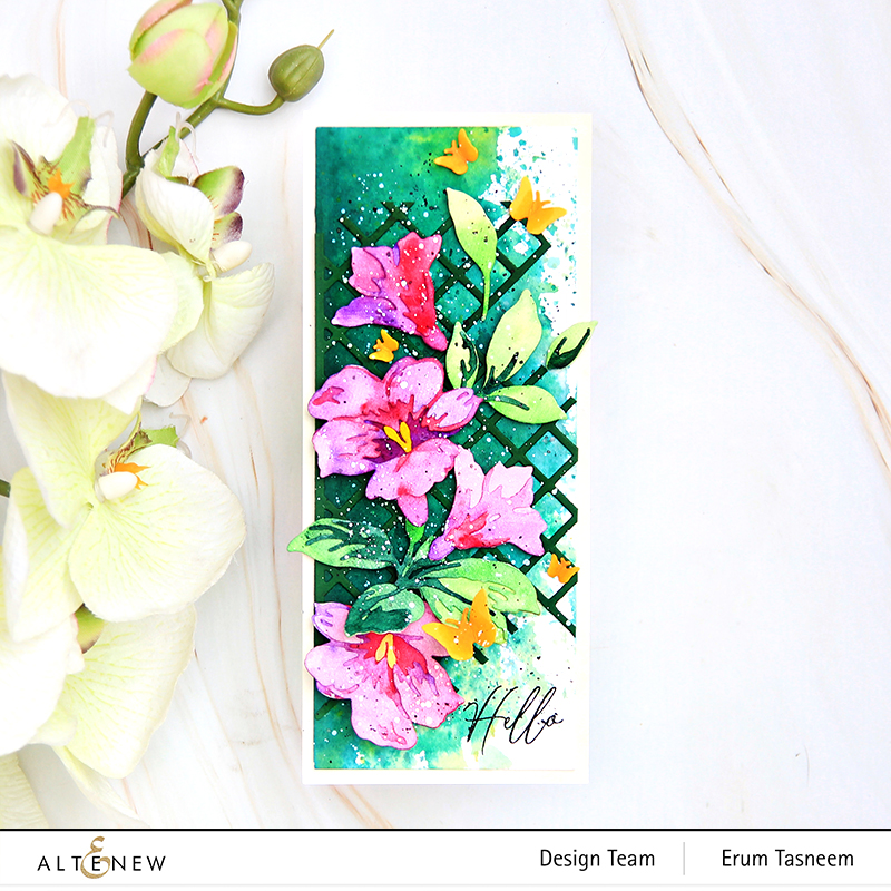 Altenew Climber Flowers Die Set | Erum Tasneem | @pr0digy0