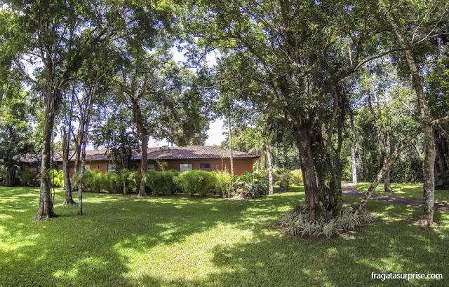 Área verde do Hotel San Martin Resort & Spa, em Foz do Iguaçu