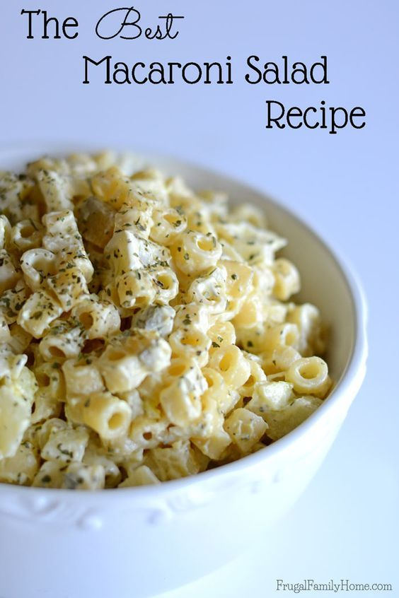 Best Macaroni Salad Recipe #recipes #dinner ideas #dinnerideasfortonight #food #foodporn #healthy #yummy #instafood #foodie #delicious #dinner #breakfast #dessert #lunch #vegan #cake #eatclean #homemade #diet #healthyfood #cleaneating #foodstagram