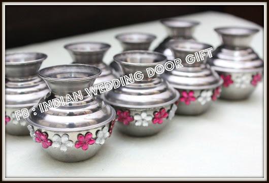 Traditional Indian Wedding Door Gift Miniature Fancy Kudam Small