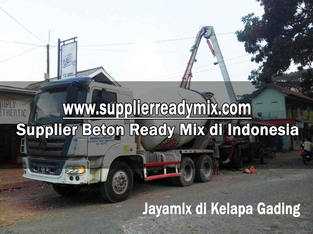 Harga Cor Beton Jayamix Kelapa Gading Per M3 2021