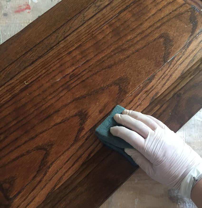 paso uno para pintar muebles cocina limpiar