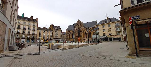 La Place Saint-Germain - Vue depuis la rue des Francs Bourgeois (21 Février 2021)