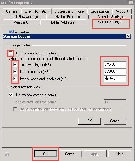 Increasing Mailbox Size In Exchange 2010