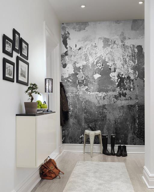 betong tapet sliten hall fototapet betong vägg