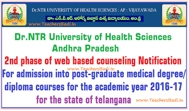 Dr NTRUHS,PGMET,Web counselling,Certificates verification dates