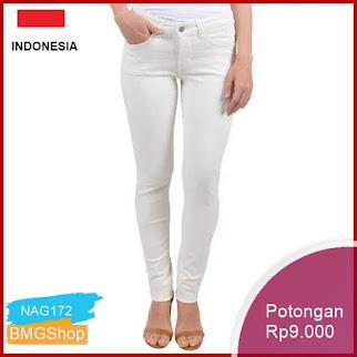 NAG172 Celana Panjang Wanita Skinny Jeans Putih Murah Bmgshop