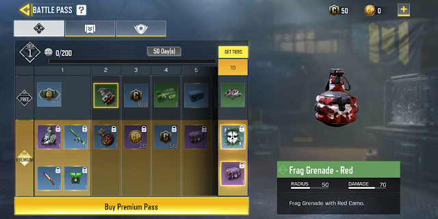 Items obtained when purchasing the Season 1 Battle Pass