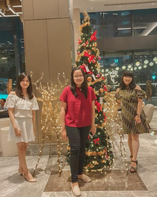 four points by sheraton surabaya christmas dinner with best friends from university iSTTS institut sains dan teknologi terpadu surabaya