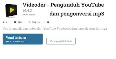 Aplikasi download video YouTube Videoder