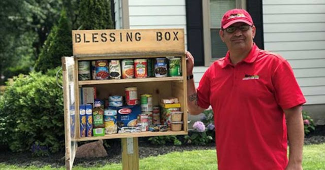 Man Built A Food Pantry On His Lawn So The Hungry Could Eat. Inspires Town To Do The Same.