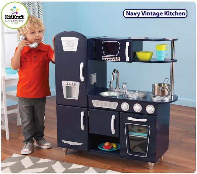 Kidkraft Navy Vintage Kitchen 53296 Portable Islands For Kitchens Toys & Furniture: July 2013