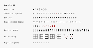Спецсимволы в шрифте Fira Code