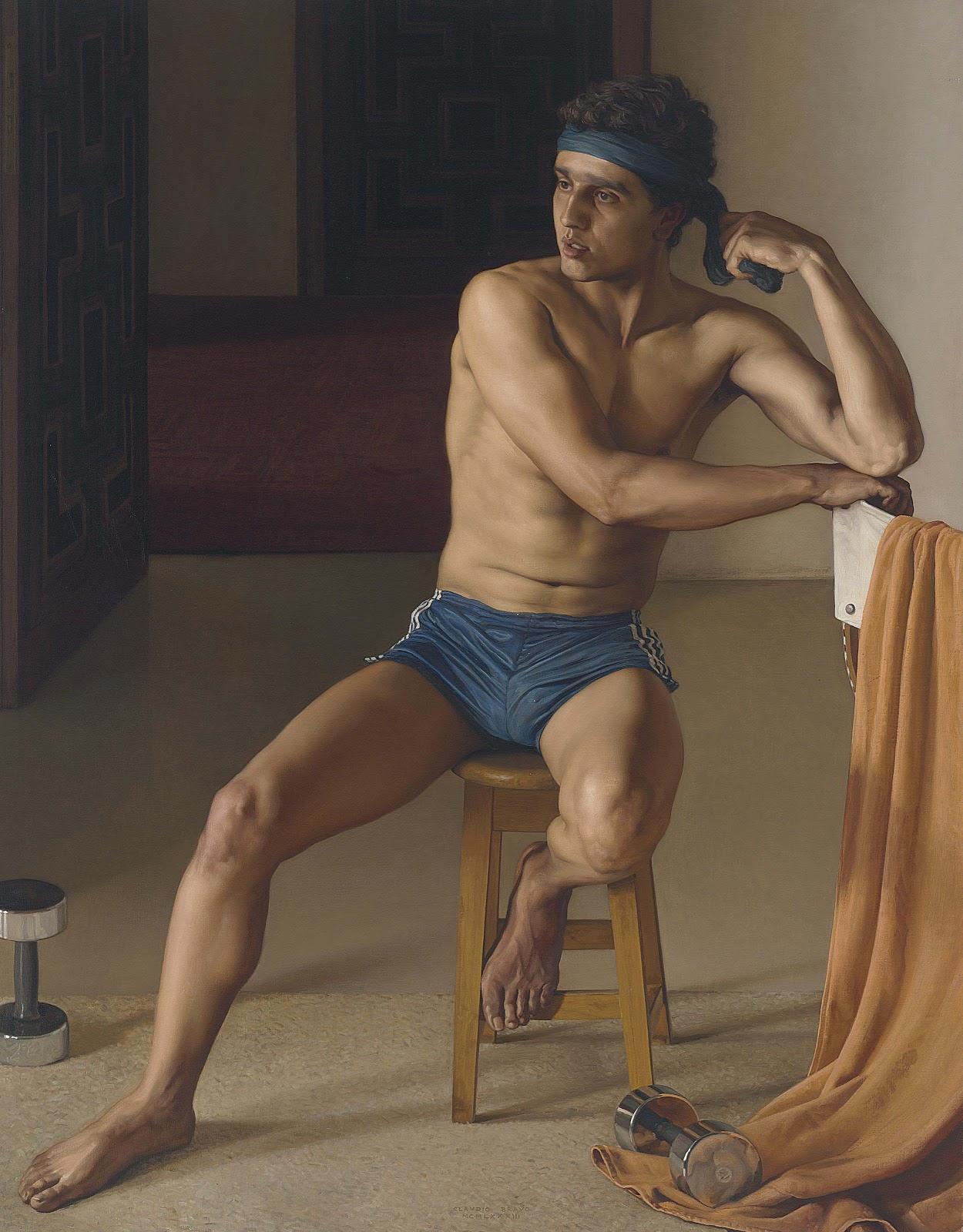 Claudio  ravo Camus Portrait of a young man