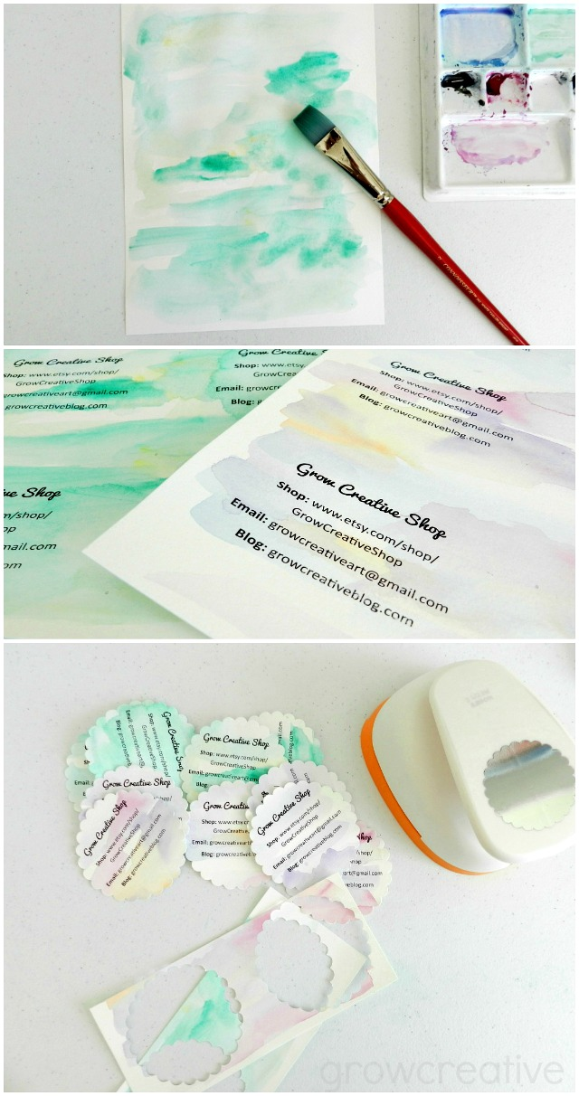 Make your own watercolor business cards: free tutorial!