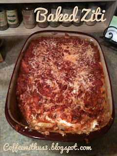 Baked Ziti by Coffee With Us 3 #recipes #menu #June