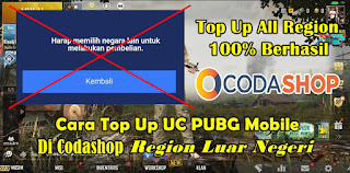 Cara Top Up UC PUBG Mobile Di Codashop Region Luar Negeri