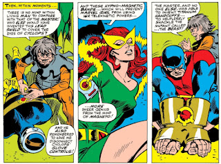 X-Men #44, trapped by the Toad