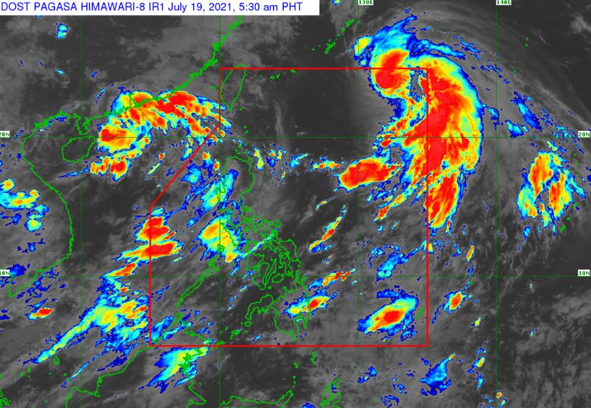 Satellite image of Tropical Storm 'Fabian' as of 5:30 am, July 19, 2021