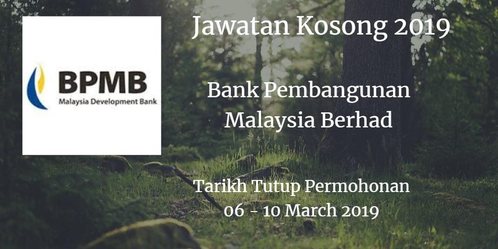 Jawatan Kosong BPMB 06 - 10 March 2019