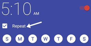 alarm repeat ke liye click kare
