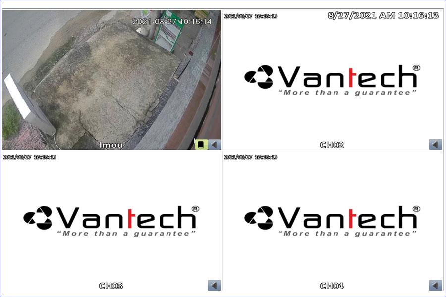 kết nối camera IP wifi vào đầu ghi hình Vantech