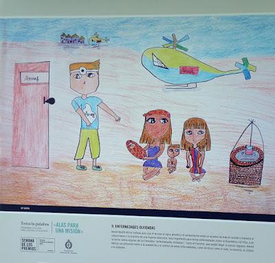Premios Princesa de Asturias. Exposición de dibujos realizados por escolares de primaria sobre la labor de AMREF Health Africa y AMREF Salud África, Premio a la Cooperación Internacional