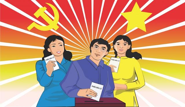 Vector pano tuyên truyền bầu cử
