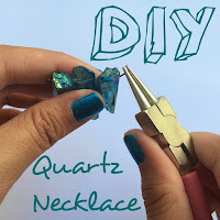 diy quartz necklace, diy tumblr jewelry, diy tumblr necklace, lauren banawa