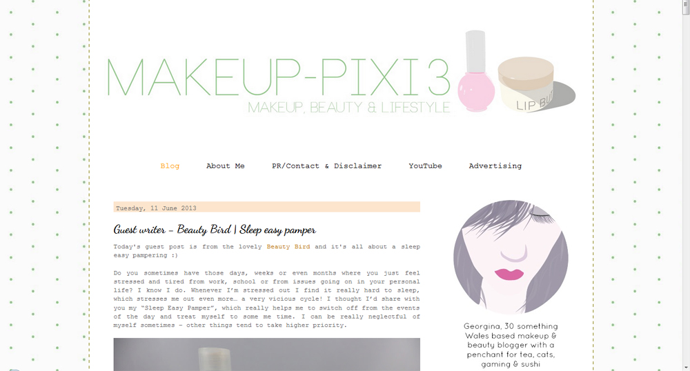 My Guest Post over at Makeup-Pixi3 | Ramblings of a Beauty Bird