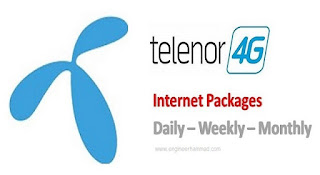 telenor daily, weekly, and monthly internet packages